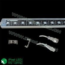 addressable 5050 digital rgb led strip rigid bar black pcb black cable
