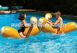 New Fun Super Inflatable Water Toy Pool Kids Splash Float Log Flume Joust Set