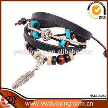 2014 TOP SALE Latest Fashion Design Bio Magnetic Leather Bracelet