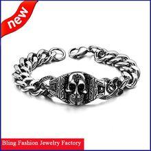 new arrival fashion popular men's stainless steel skull bangle