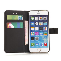 2014 New Products Flip Pu Wallet Leather Case For Iphone 6