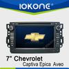 IOKONE Wholesale chevrolet captiva car gps navigator with Gps Navi,3G,Wifi,Bluetooth,Ipod,Free map Support DVB-T,DVR
