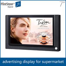 Flintstone 7 inch lcd loop display advertising equipment, desktop standing lcd video player, usb update pos monitor