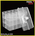 Plastique transparent divider box, Boîtes de rangement, Propre 5 grille boîte type