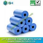 Biodegradable blue trash bag refuse sack on roll,disposable plastic garbage bags