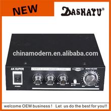 DASHAYU high quality digital mixer power amplifier with digital echo,usb,sd,fm,remote control,mic input