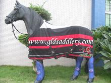 Polar Fleece Striped Newmarket Style Cooler/Fleece Horse Rug