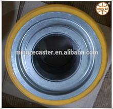 Taper bearing caster,solid steel wheel,heavy duty wheels