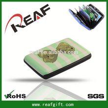 Aluminum + ABS plastic + PVC wallet credit card holder plastic