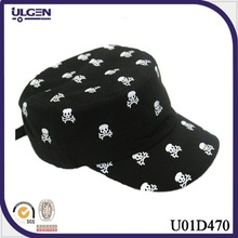 Wholesale Cheap Custom men skull military cap