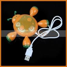 Different Color Beetle Shape 4 Port 2.0 High Speed USB Hub For Promotion
