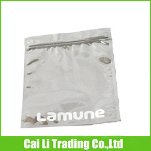 food grade 3 layers laminated and printed ziplock recycle aluminum foil pouch