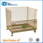 Rigid welded storage cage metal box wire mesh container