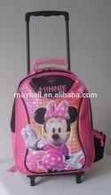 Custom logo kids trolley school bag for girls