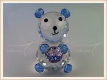Animal Series Crystal Bear with Diamond For Home Decor.