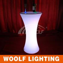 LED lighted round pub wine table