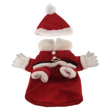 Férias estações traje de papai cão inverno natal quente Pet roupa massa atacado e Cap