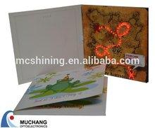 shining led arts and craft greeting card wholesale