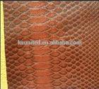 raw snake skin pvc leather