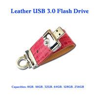 3.0 flash drive leather products usb 3.0 thumb drive 32gb-256gb