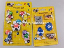 m m's magnet set 3d custom soft pvc fridge magnet rubber magnet new 2014