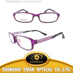 HD2014013332C0309 china beauty purple HD TR90 optical frame manufacturer
