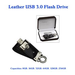 genuine leather usb 3.0 flash thumb drive 64gb