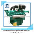 pequeño motor diesel v12 60hz 650kw hecho en china