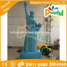 la figura portátil inflable publicidad estatua de la libertad modelo