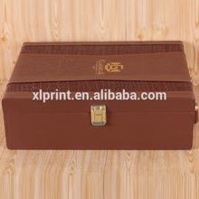 High class cardboard leather wine carrier