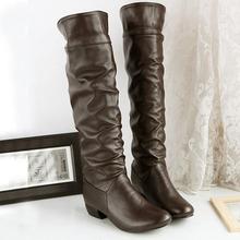 S5026 PROMOTION three colors drape decoration wholesale manufacturer plus size coffee boots