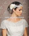 خمر ريشة زخرفة خياطة الرباط العرسان الحجاب