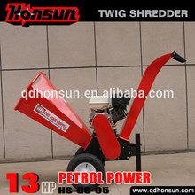 (HS-GS-05) 13HP Honda GX390, Kohler Command, Briggs & Stratton powered gasoline engine mini log shredder chipper