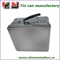 lunch tin box with lock and key with window on body
