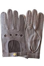 Classic Basic Deer Skin Men's Driving Leather Gloves