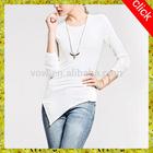 T shirt wholesale China fashion round neck slim fit sexy lady blank white woman t shirt,OEM service
