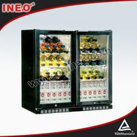 Lockable mini fridge glass door/side by side fridge/custom beer fridge