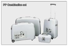 Hot selling PP 4 pcs combination set travel luggage set with make up case