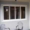 อลูมิเนียมสอง- พับโปร่งใสแผ่นกระจกหน้าต่างบานเลื่อนราคาสมาร์ท