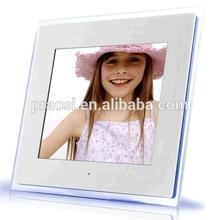 12 inch acrylic digital photo frame white/black motion sensor video play when near the frame
