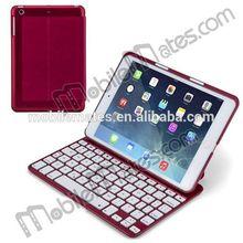 Backlight Bluetooth Keyboard Case for iPad Mini, Flip PU Leather Case with Wireless Keyboard for iPad Mini 2