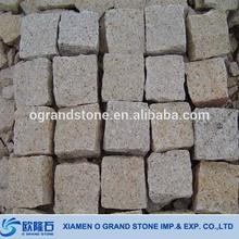 Outdoor Driveway Yellow G682 Cube Stone Flat Bulk Polished Tumbled Stones