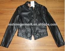ladies leather jacket with decorative