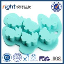 Animal shape mini rabbit silicone ice cube tray