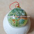 De la mano- pintado decorativo patrón de la decoración de bolas de navidad bola de cristal