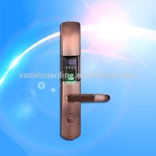 biometric fingerprint reader door lock system / keypad/ID card/USB port/reversible handle/Zinc Alloy/
