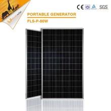 High Efficiency 80W poly solar cells, solar panels