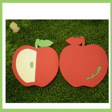 beautiful red apple shape mdf coaster
