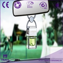 square elegant car air freshener bottle