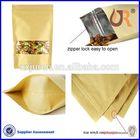 plastic foil lined paper zip lock bag for food